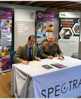 Nic Organ Signing the Armed Forces Covenant